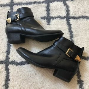 Unisa Black Faux Leather ankle boots